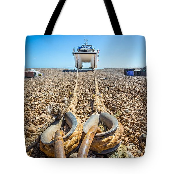 Tote Bag featuring the photograph Boat Ropes. by Gary Gillette
