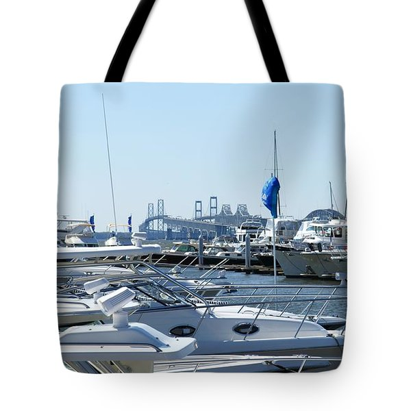 Boat Show On The Bay Tote Bag