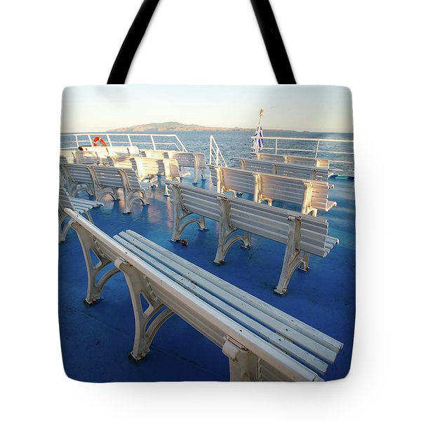 Boat Trip In The Azores Tote Bag by Gaspar Avila
