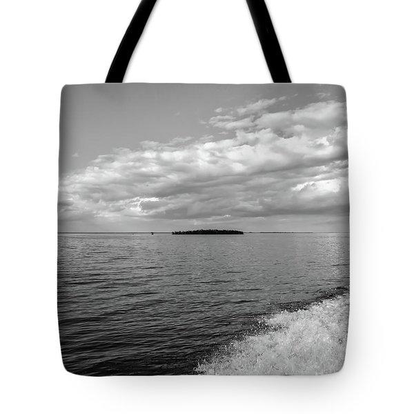 Boat Wake On Florida Bay Tote Bag