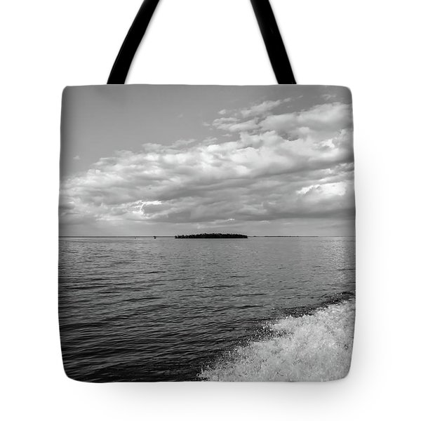 Boat Wake On Florida Bay Tote Bag