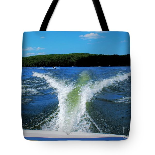 Boat Wake Tote Bag by Patti Whitten