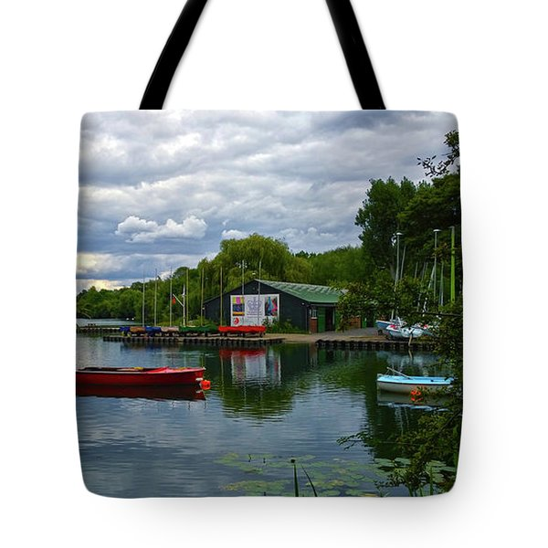 Boathouse Tote Bag by Anne Kotan