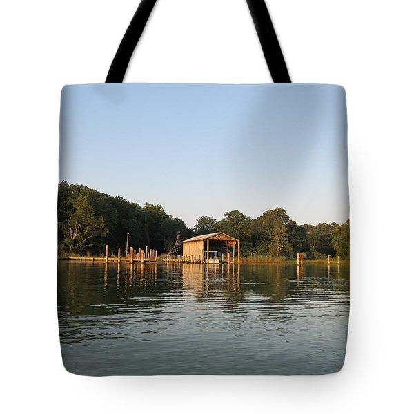 Boathouse Landing Tote Bag