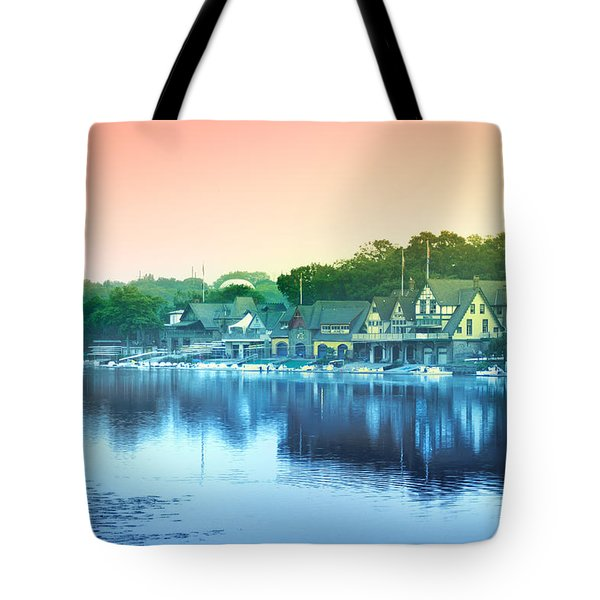 Boathouse Row Tote Bag by Bill Cannon