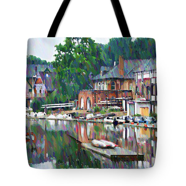 Boathouse Row In Philadelphia Tote Bag
