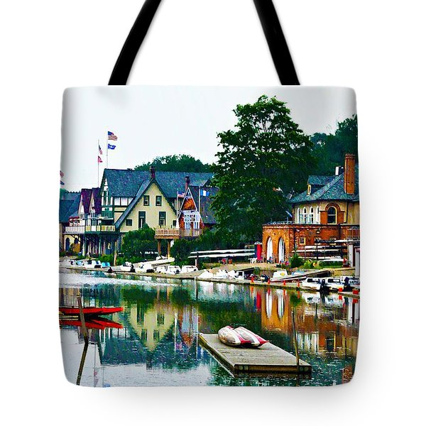Boathouse Row In Philly Tote Bag by Bill Cannon