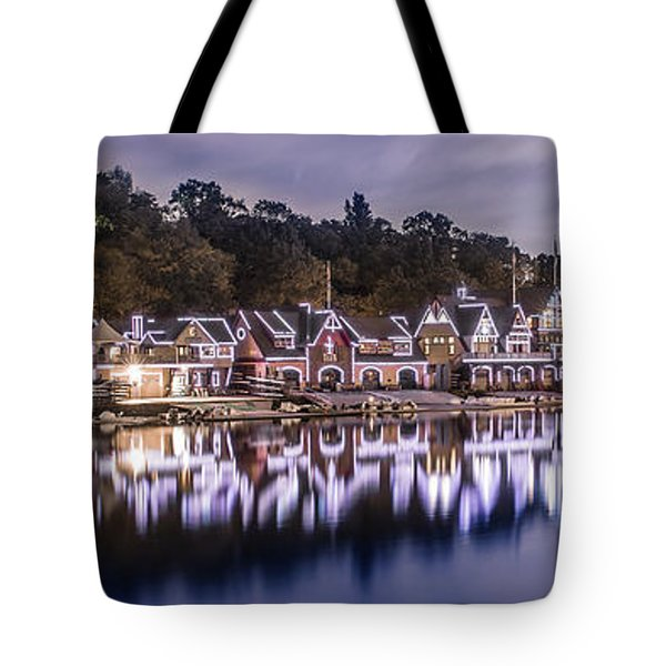 Boathouse Row Night Blue Tote Bag