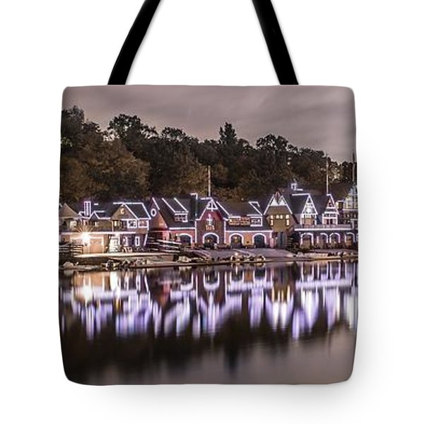 Boathouse Row Night Tote Bag