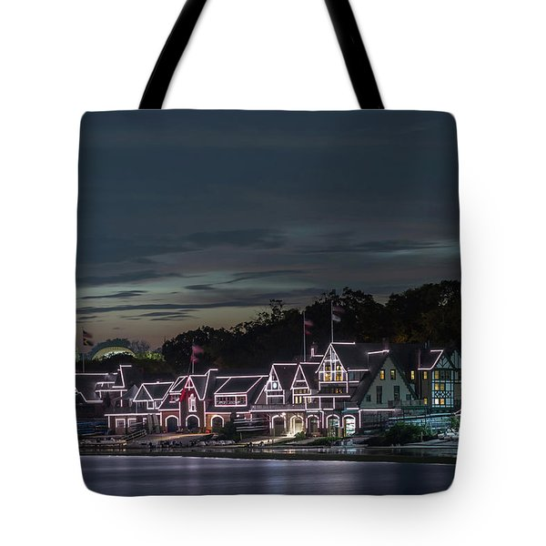 Boathouse Row Philly Pa Night Tote Bag