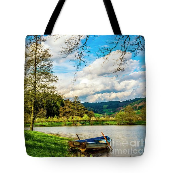 Boating On Golden Pond 254  Tote Bag