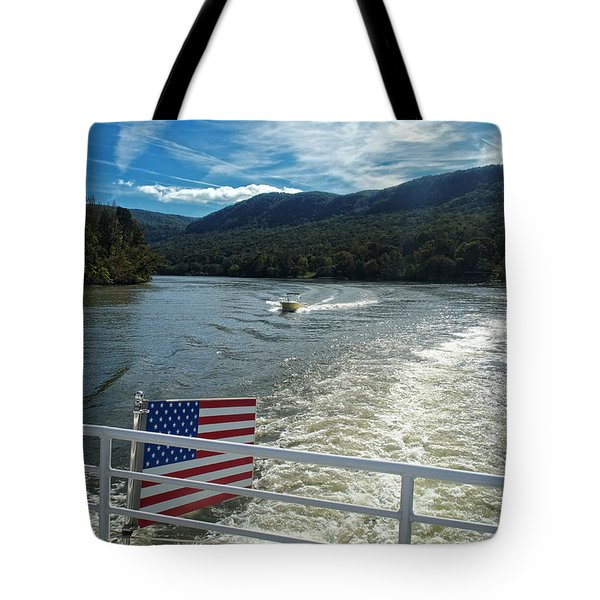 Boating On The River Tote Bag
