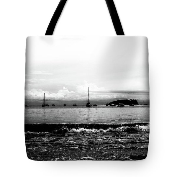 Boats And Clouds Tote Bag