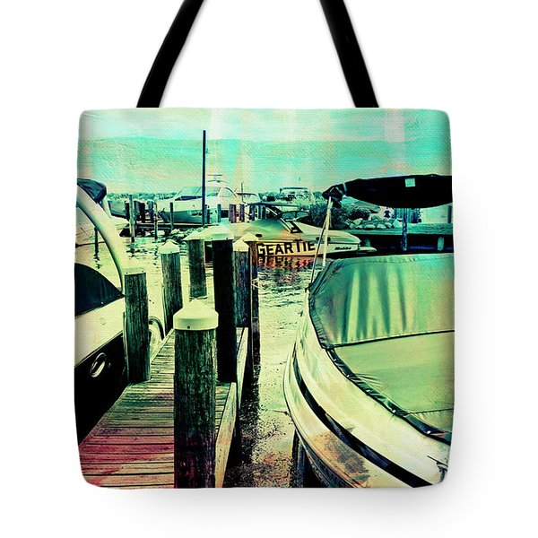 Boats And Dock Tote Bag