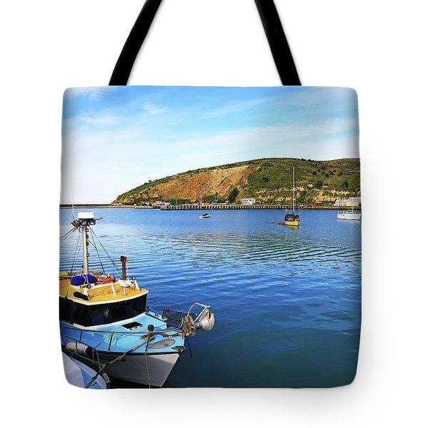 Tote Bag featuring the photograph Boats At Friendly Bay by Nareeta Martin