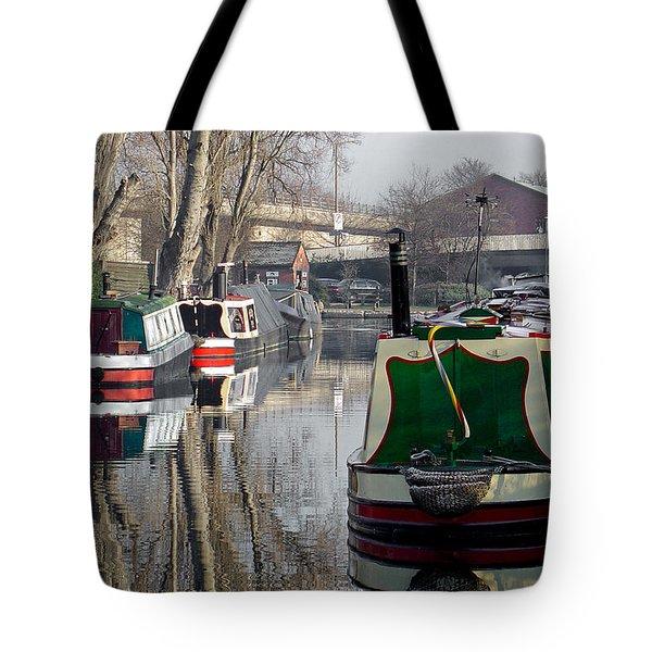 Boats At Horninglow Basin Tote Bag by Rod Johnson