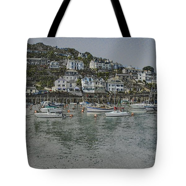 Tote Bag featuring the photograph Boats At Looe by Brian Roscorla