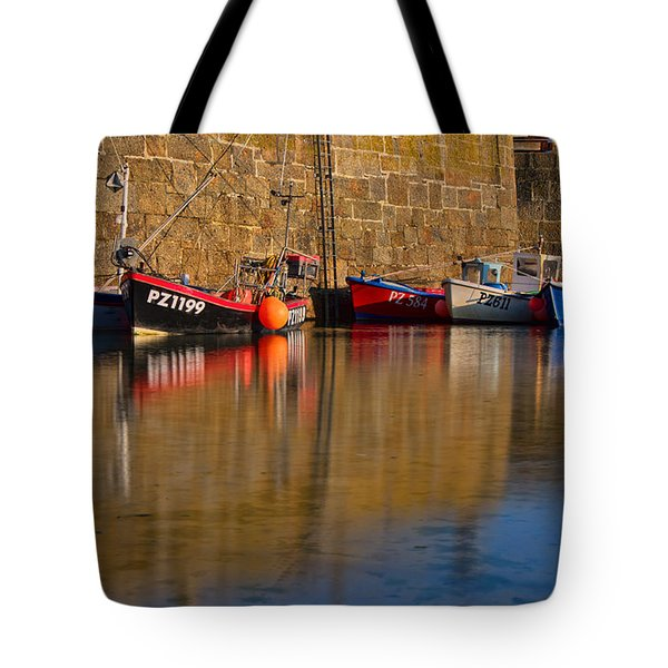 Boats At Mousehole Tote Bag