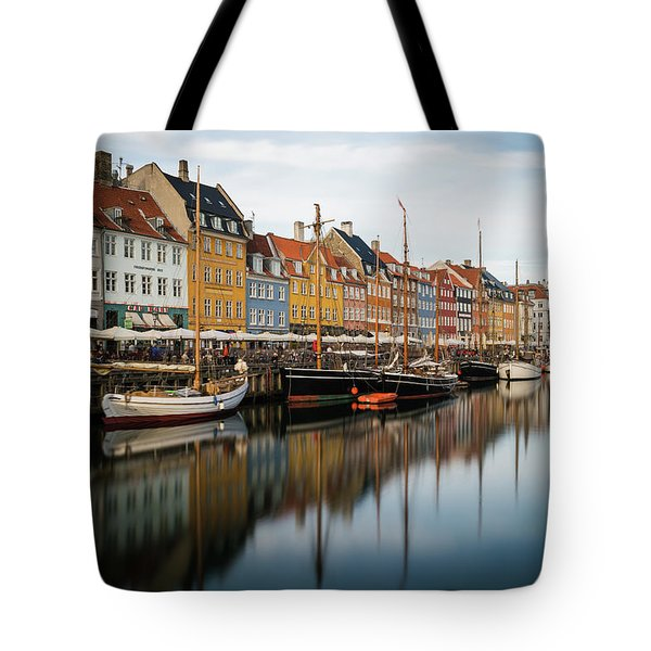 Boats At Nyhavn In Copenhagen Tote Bag