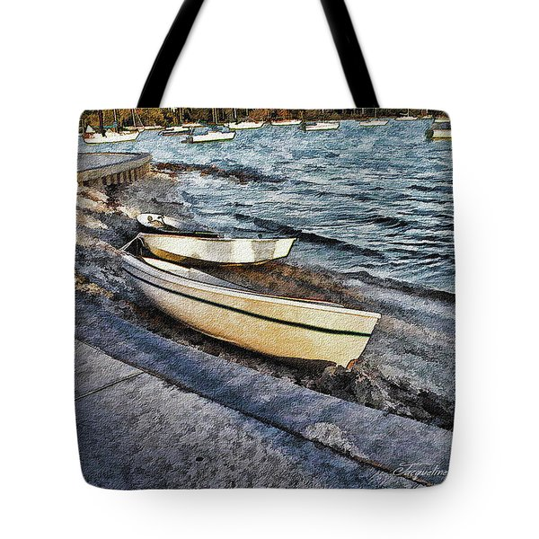 Boats At The Bay Tote Bag