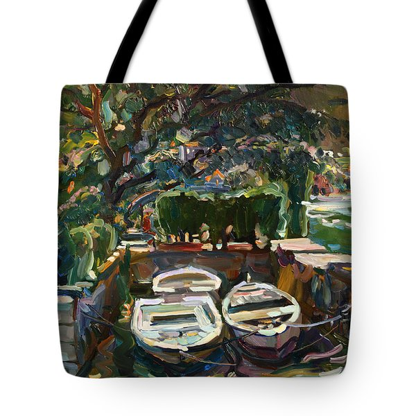 Boats At The Pier. Sold Tote Bag