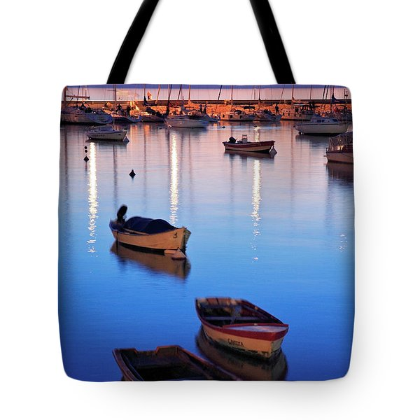 Tote Bag featuring the photograph Boats by Bernardo Galmarini