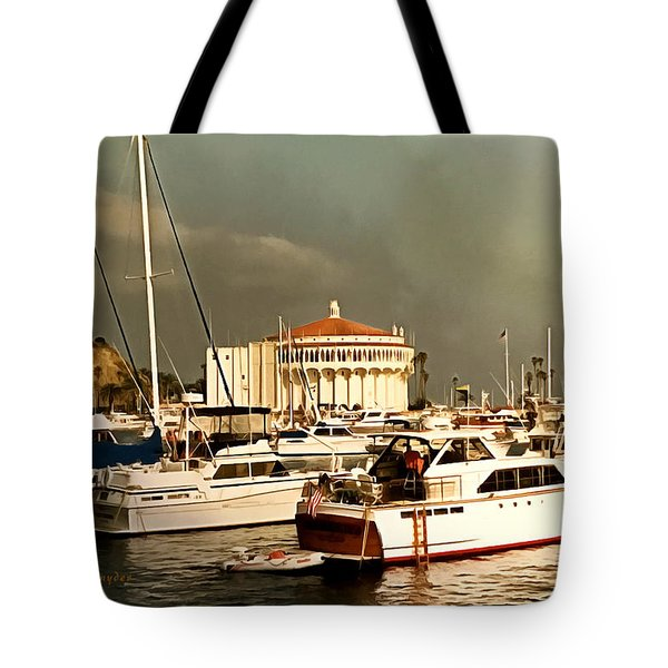 Tote Bag featuring the photograph Boats Catalina Island California by Floyd Snyder