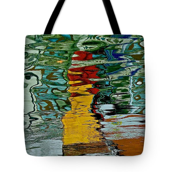 Boats In A Reflection Tote Bag