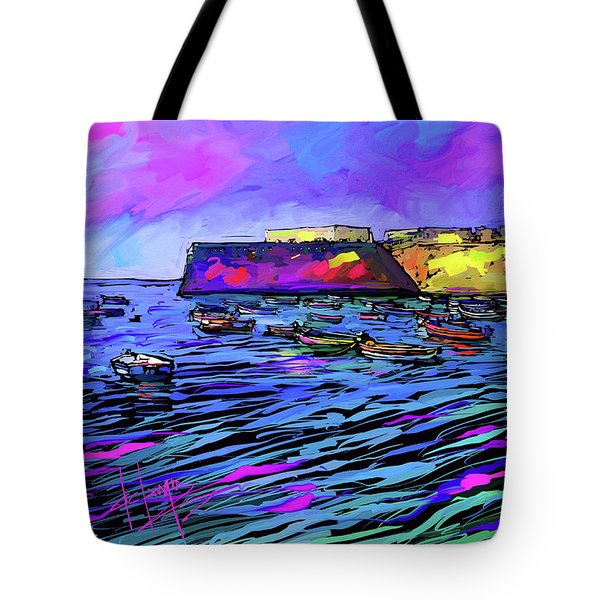 Boats In Cadiz, Spain Tote Bag