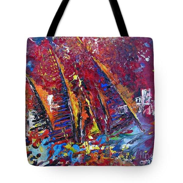 Boats In Calpe 02 Spain Tote Bag by Miki De Goodaboom