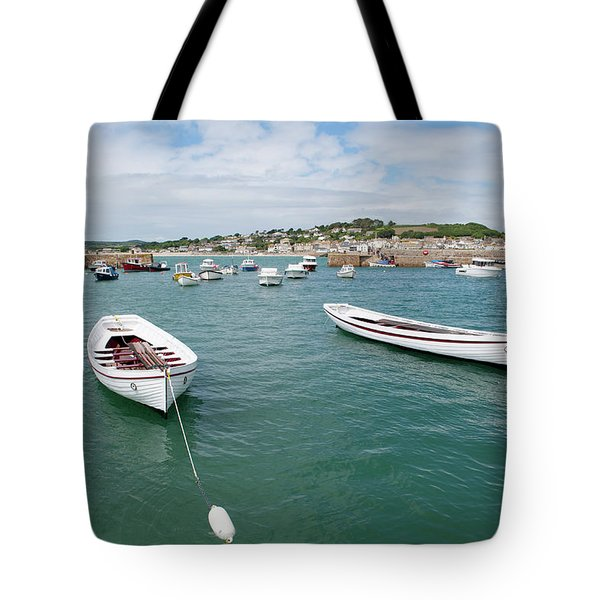 Boats In Habour Tote Bag