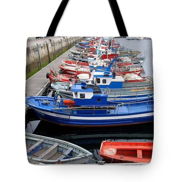 Tote Bag featuring the photograph Boats In Norway by Joan  Minchak