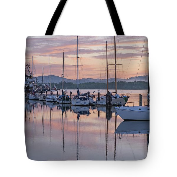 Boats In Pastel Tote Bag