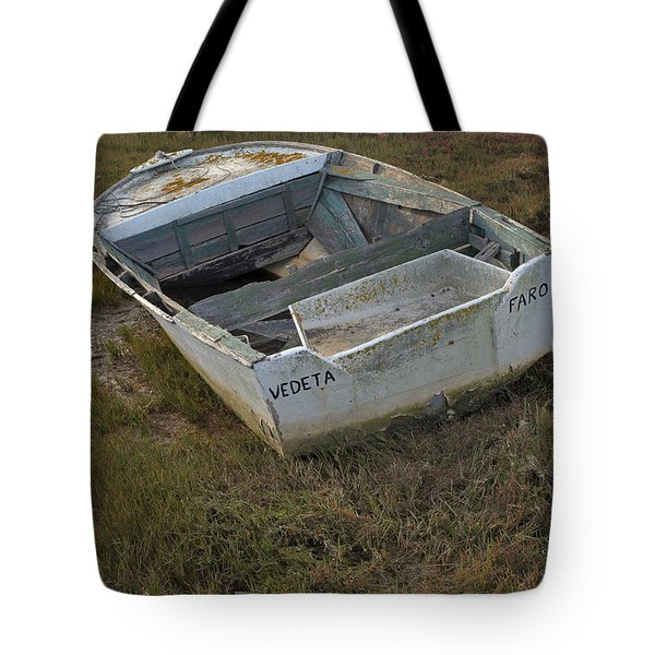Boats In Ria Formosa Tote Bag