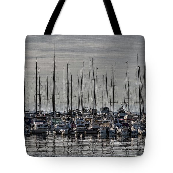 Tote Bag featuring the photograph Boats In The Izola Marina - Slovenia by Stuart Litoff