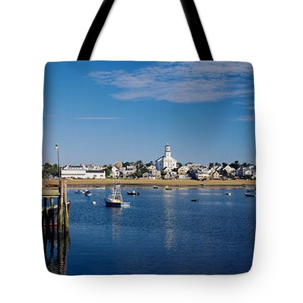 Boats In The Sea, Provincetown, Cape Tote Bag