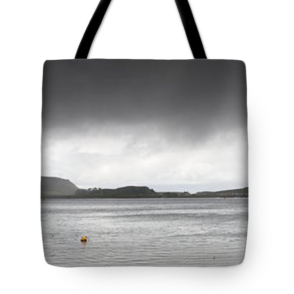Boats Moored In The Harbor Oban Tote Bag by John Short