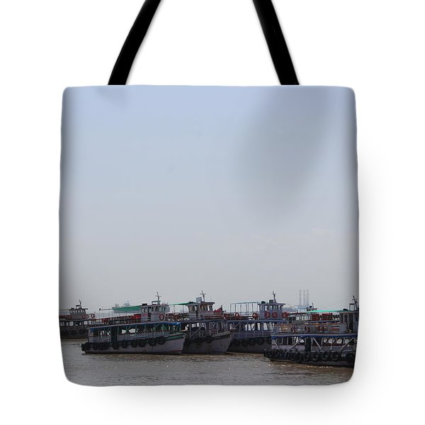 Boats On The Indian Ocean In The Haze Tote Bag