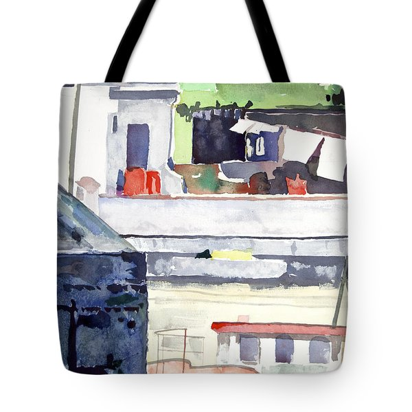 Boats On The Quay Tote Bag