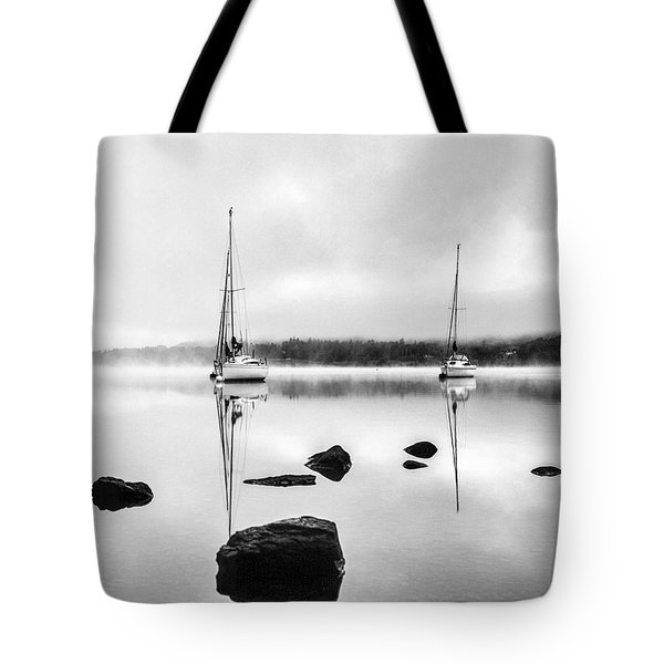 Boats On Ullswater In The Lake District Tote Bag