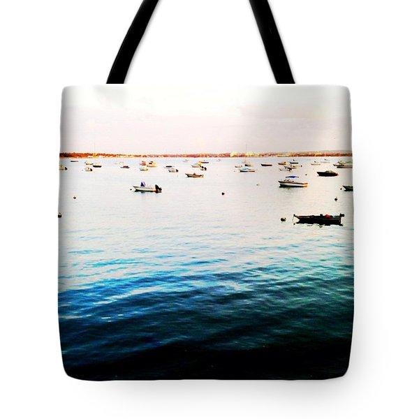 Boats At Dusk Tote Bag