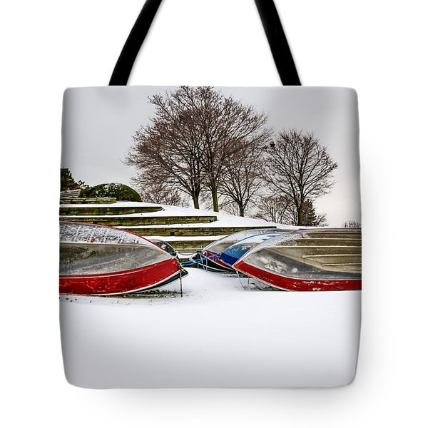 Boats Waiting On Spring Tote Bag