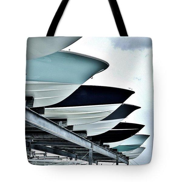 Boatyard, Tiki 52 Tote Bag