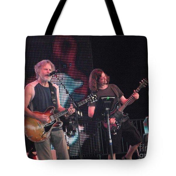 Tote Bag featuring the photograph Bob And John - Furthur by Susan Carella