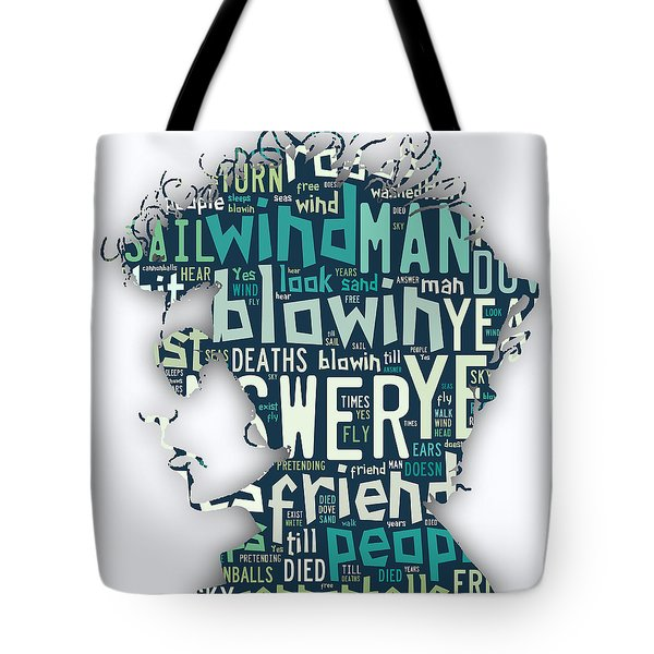 Bob Dylan Blowin In The Wind Tote Bag by Marvin Blaine