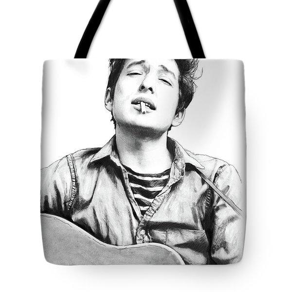 Bob Dylan Drawing Art Poster Tote Bag by Kim Wang