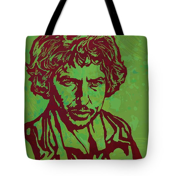 Bob Dylan Pop Art Poser Tote Bag by Kim Wang