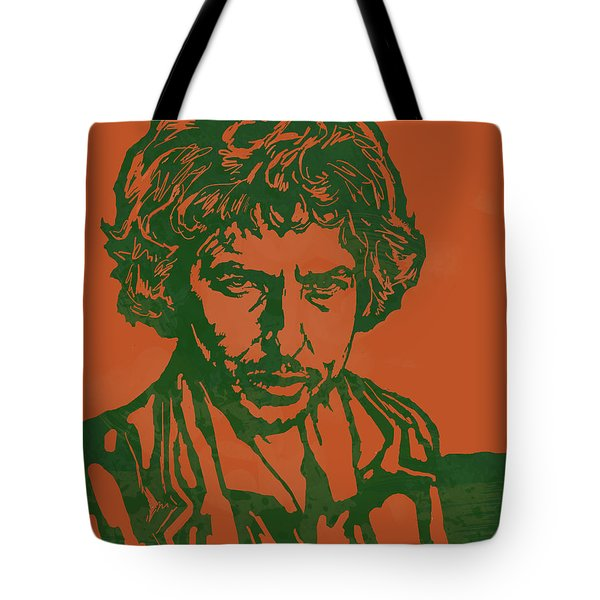 Bob Dylan Pop Stylised Art Sketch Poster Tote Bag by Kim Wang
