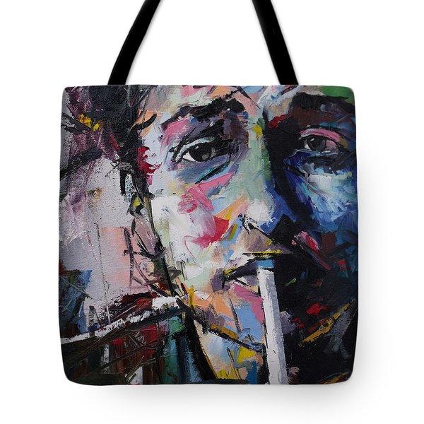 Bob Dylan Tote Bag by Richard Day