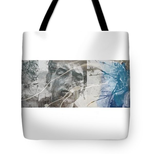 Bob Dylan Triptych Tote Bag